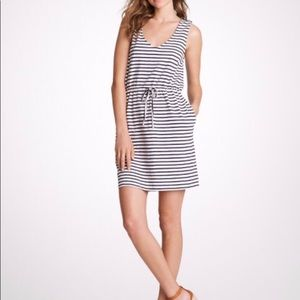 J. Crew Maritime V Neck Stripe With Pockets Dress